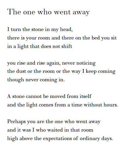 the one who went away